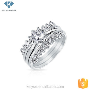 Wholesale silver jewellery stack wedding ring sets stackable rings online