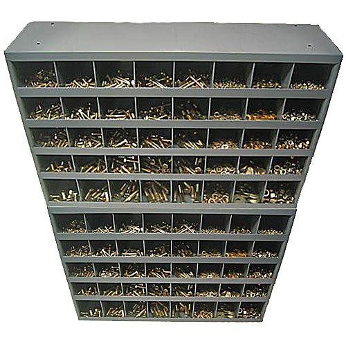NEF 3,570 Piece Grade 8 Coarse Nut and Bolt Assortment, Hex Nut, All Steel Lock Nut, Cap Screw (Bolt), Flat Washer and Lock Washer Assortment, Includes Two 40 Hole Bins
