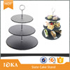 Two Tiers Nature Slate Cake Stand in Round Shape