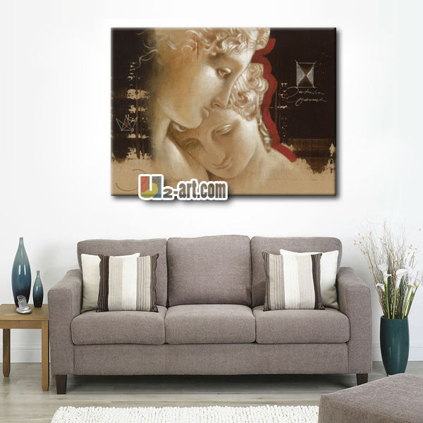Painting For Bedroom modern canvas romantic lover oil painting for bedroom wall