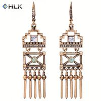 Trendy hot new products 2018 high quality fashion long Egypt Old Style jewelry dangle earrings