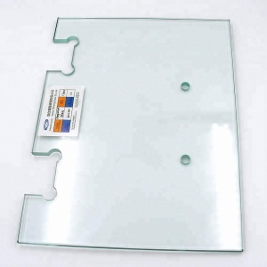 8mm 10mm 12mm thk clear tempered door glass for bathroom shower door