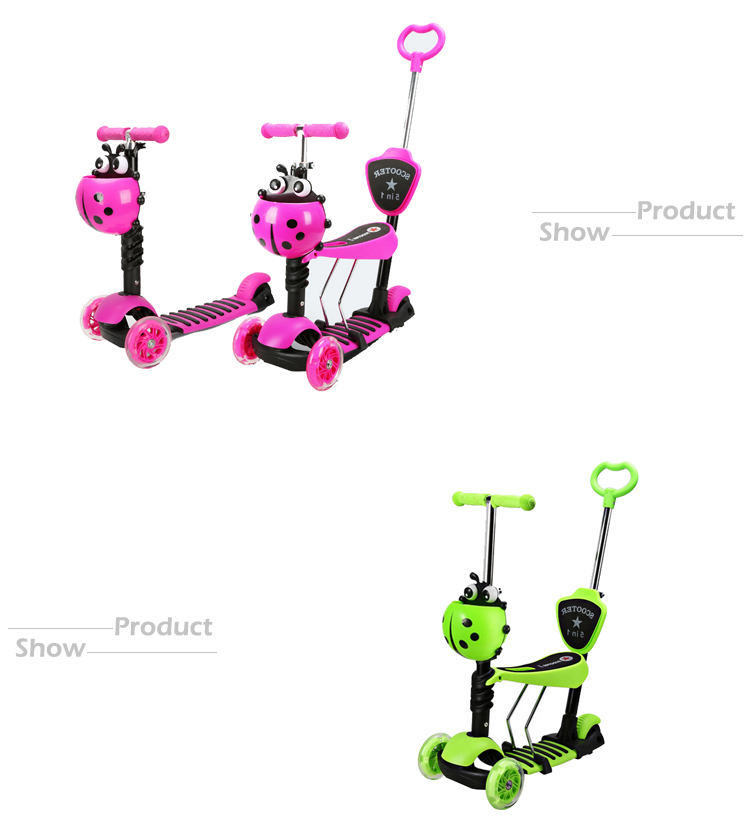 Alibaba china manufacturer cheap price 5 in 1 gift toy kids kick scooter