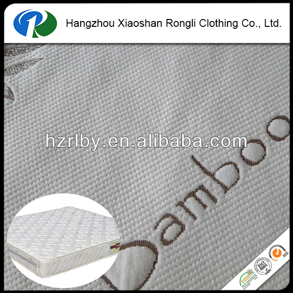 Jacquard knitted mattress bamboo fabric wholesale