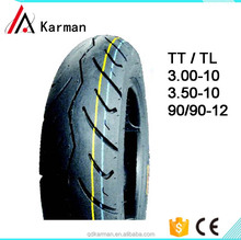 China Tubeless Motorcycle Tire / Tyre Manufacture 90/90-12 TL