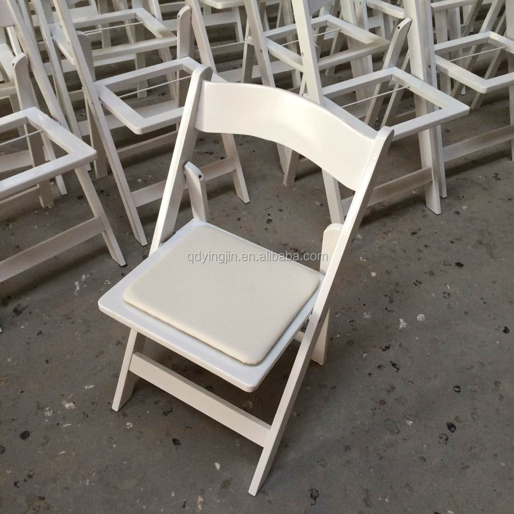 Wedding garden chairs - Used In Outdoor Wedding Garden Resin White Foldable Chair