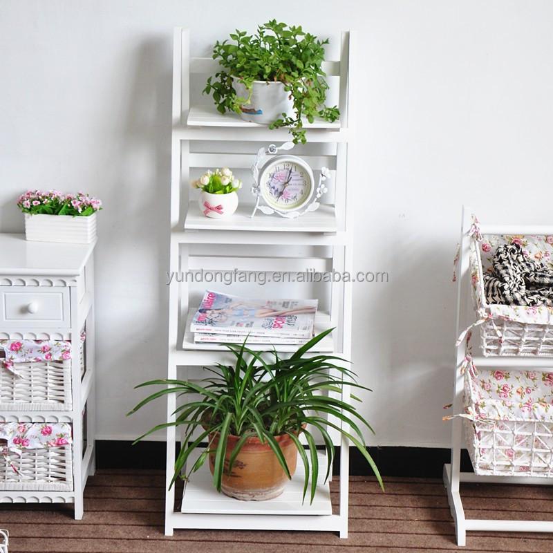 Zakka jard n maceta estanteria madera plegadora flores for Estanteria plantas interior