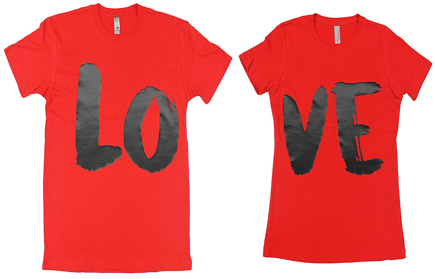 c0c18aca7 Get Quotations · Matching Couple Valentine T-Shirts - Custom His & Hers  Love Tees - 3 Colors