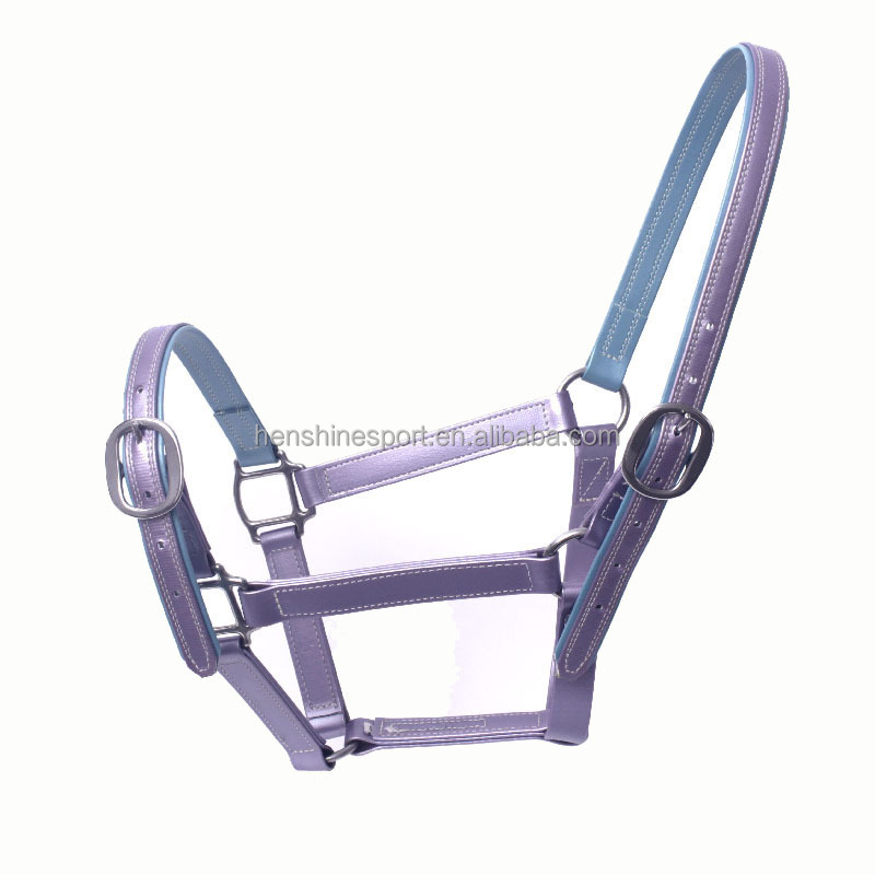 2017 New style soft padded waterproof PVC horse halter for wholesale