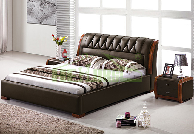 Latest wooden bed crowdbuild for for Double bed new design