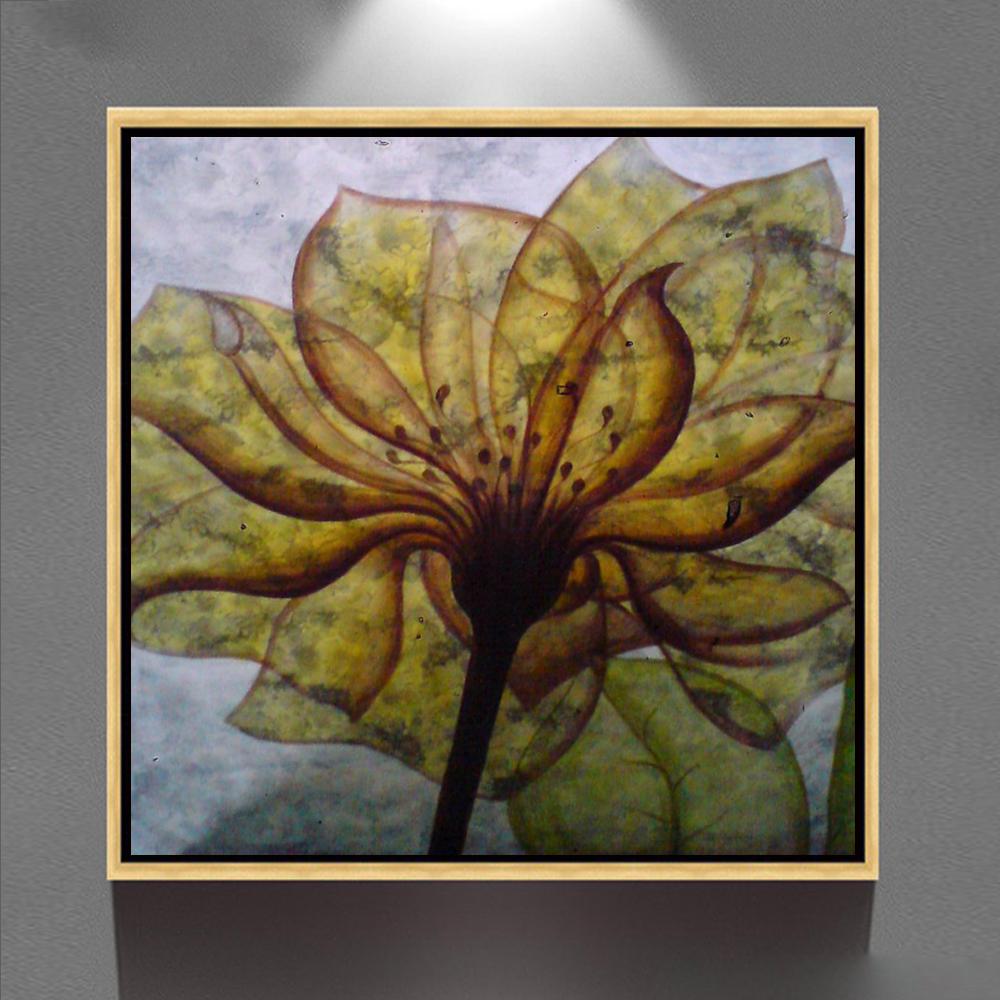 Tela Acr Lica Emoldurado Pintura A Leo Abstrata Moderna