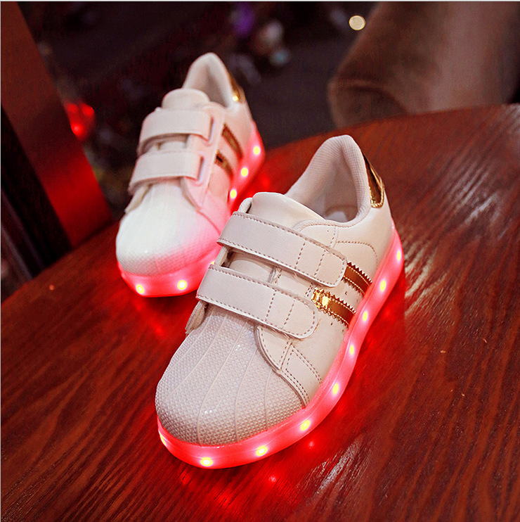 Spring Autumn Winter Children Baby Sneakers Led Light Sport Shoes For Kids