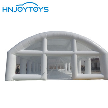 Large Camping Inflatable Clear Tent White Commercial Outdoor Inflatable Event Tents For Sale
