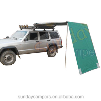 Retractable 4wd Vehicle Side Rooftop Awning - Buy Vehicle ...