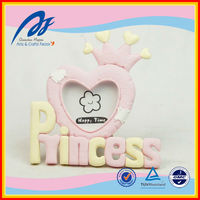 wholesale resin pink baby frame, resin baby photo, resin baby picture frame