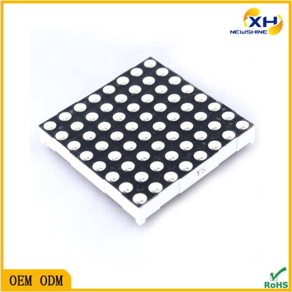 Free Sample Indoor Outdoor using High Brightness 8x8 dot matrix, 8x8 3mm rgb led matrix