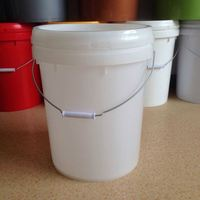 recycled round PP/PE plastic drum with lid and handle for paint