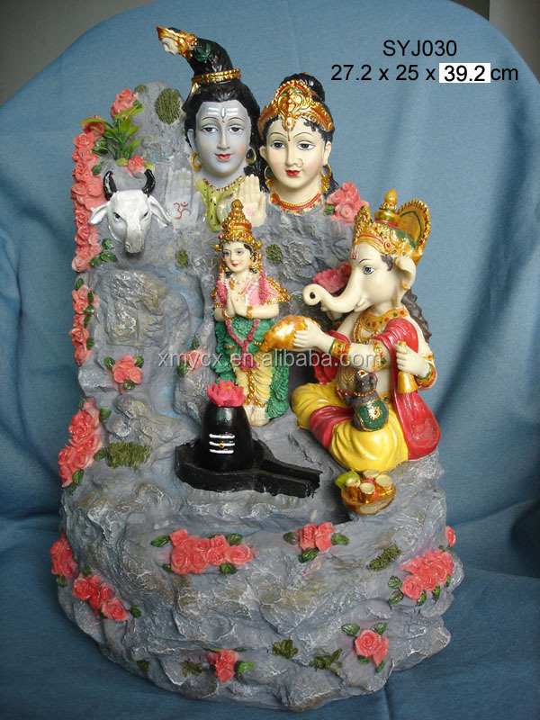 Decorative hindu god indoor ganesh water fountain