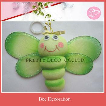 Green nylon bee hive decoration buy bee wall decoration for Artificial bees for decoration