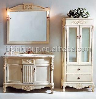 artigianali mobili per bagno bianco con specchio bagno di lusso vanity set legno antico