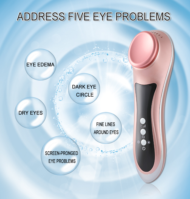 Hot sale new design manual vibration eye massager anion ice and warm eye care device