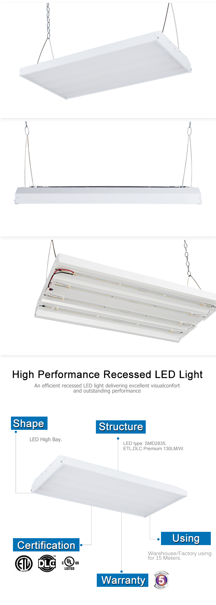 Customized external driver silver led display light