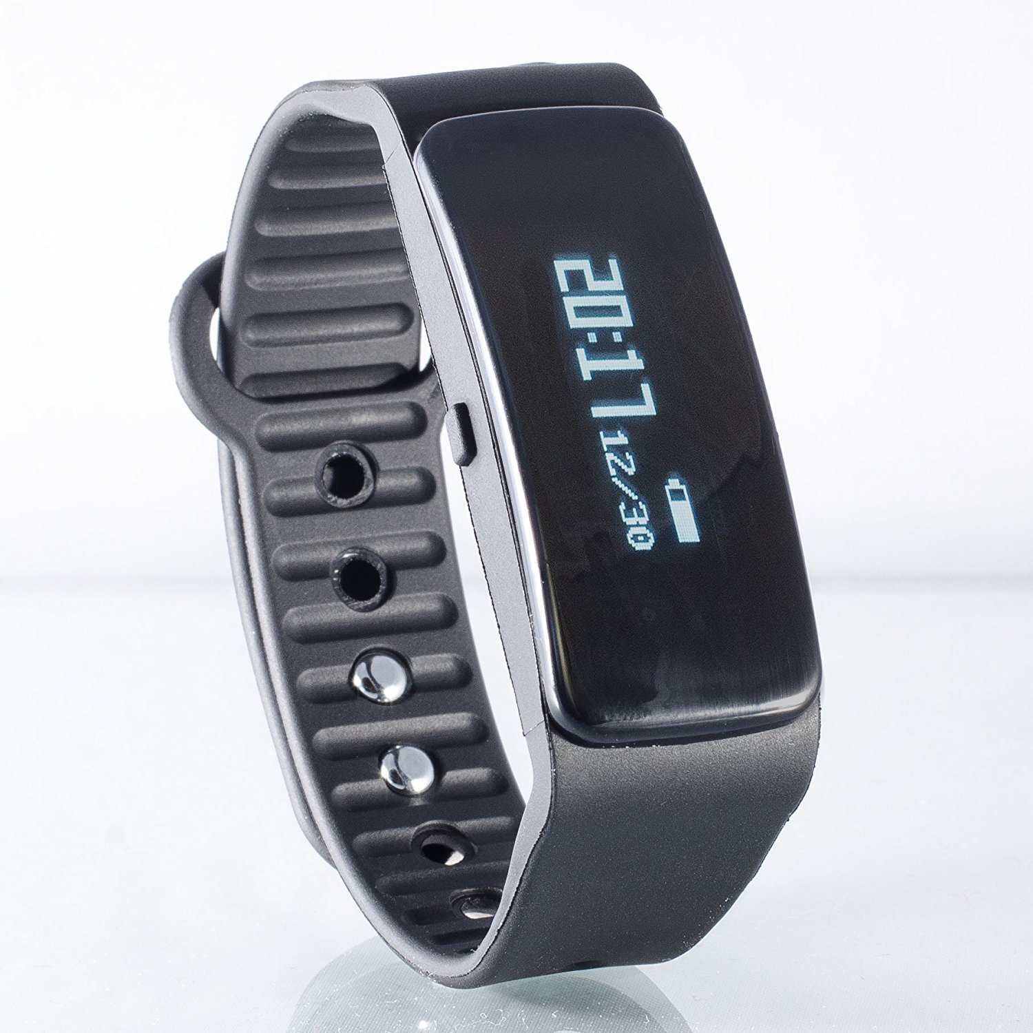 Fitness Tracker Smart Band Aractive w/Sleep Monitor, Calorie Counter, Pedometer, Bluetooth & Call/SMS Reminder - helps you track your activity – Stylish Black.