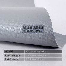 silver grey silicone coated fiberglass fabric for fire blanket