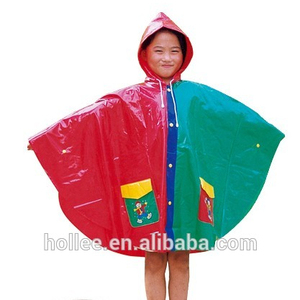 VS1010A PVC 0.13mm children multicolor rainponcho