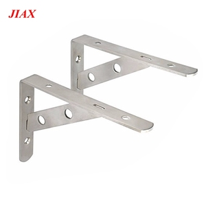 Factory fabrication stainless steel shelf triangle bracket accept custom machining