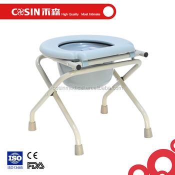 Handicap Toilet Seat Folding Commode Stool Disabled Commode Chair ...