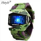 New Design Digital Display LED 실리콘 손목 Watches Camouflage Color WP014