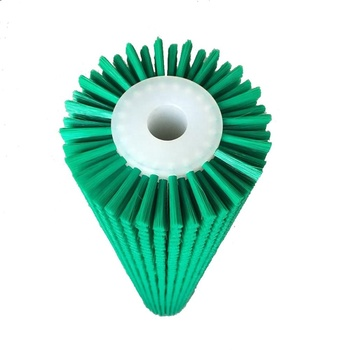 hot-seling industrial green nylon roller cleaning cylinder brush for fruit cleaning