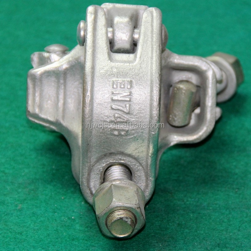 German Drop Forged fixed/Double Coupler with Antislip Stiffener