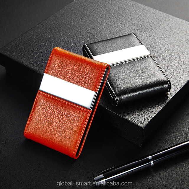 Buy cheap china leather brown business card holder products find metal stainless steel pocket business card holder high end women men unisex card leather case brown reheart Images