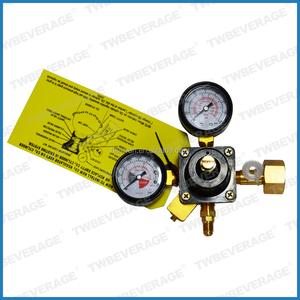 HIGH PRESSURE DUAL GAUGE CO2 REGULATOR 0-160 PSI