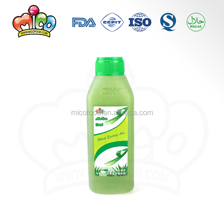 health wheat seeding juice aloe vera drink with pulp