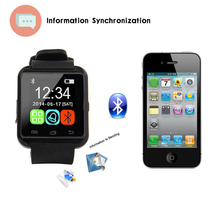 2017 portabel wrist m26 bluetooth cerdas watch phone android 4.4 u8 u8 dengan <span class=keywords><strong>skype</strong></span>
