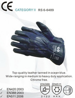 RS SAFETY warm keeping black comfortable cow hide A grade gloves leather men winter