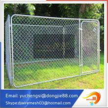 Wholesale Cheap outdoor Chain link black Dog run kennel Customized