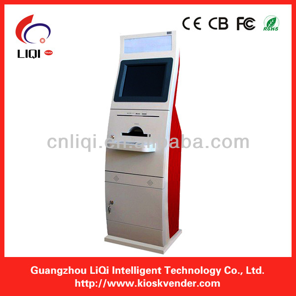 Touch Screen Payment Kiosk With cash box