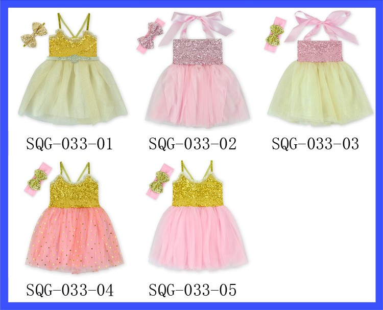 f59a7e79395f Hot Sale Fashion Boutique Gold Sequins Summer Dress Baby Party ...