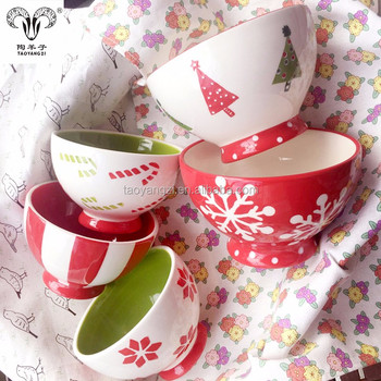 ceramic material eco friendly christmas candy bowl for children - Christmas Candy Dishes