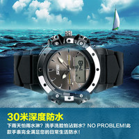 Analog Digital Day/Date,Stopwatch,Alarm multifunctional designer famous watch brand