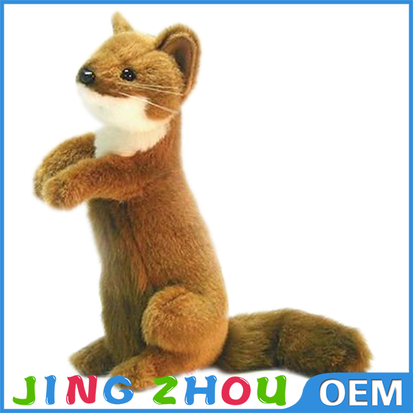 Lifelike Cuddly Plush Wild Animal Toy Stuffed Toy Weasel