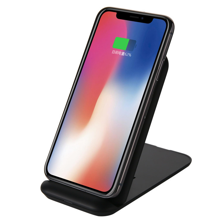 3 coils foldable stand holder wireless charger qi standard fast wireless charger mat
