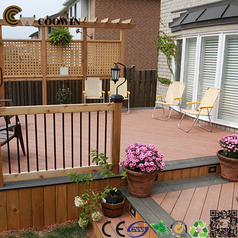 Balcony grill designs WPC plank