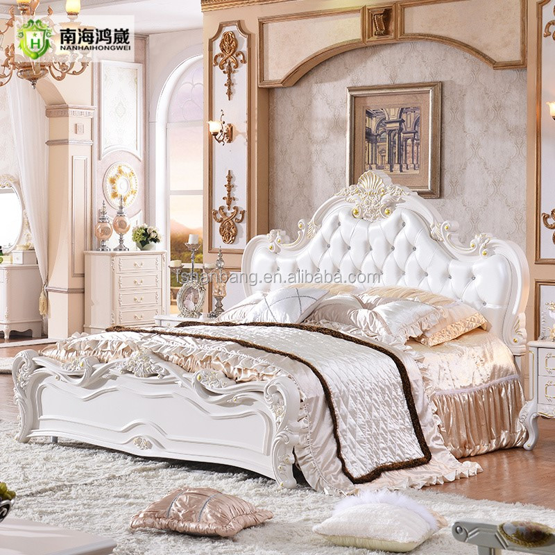 Classical European Style Furniture Set King Size Bed
