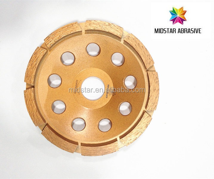 Midstar diamond double row abrasive cup grinding wheels for concrete marble granite floor