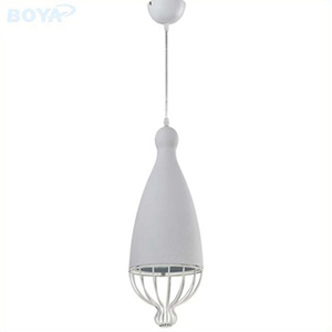 Guzhen cheap pendant light Blue metal aluminum hanging lamp